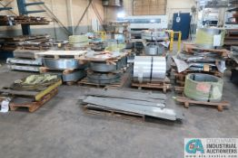 (LOT) VARIOUS SIZE AND GAGE ROLLED STEEL STOCK APPROX. 42,212 LB. (SEE WEBSITE FOR SPECS)
