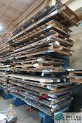 """SECTION 84"""" WIDE X 48"""" ARM X 150"""" HIGH HEAVY DUTY STEEL SINGLE SIDED CANTILEVER RACK"""