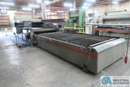 4,000 WATT CINCINNATI MODEL CL7A CNC LASER; S/N 53611, (2) 6' X 12' SHUTTLE TABLES, FANUC 4000