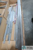 (LOT) STEEL RULERS TO 70""
