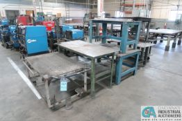 MISCELLANEOUS HEAVY DUTY STEEL TABLES AND CARTS