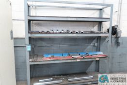 """(LOT) (70) PRESS BRAKE DIES AND PUNCHES, 1/2"""" - 33"""" AND RACK"""