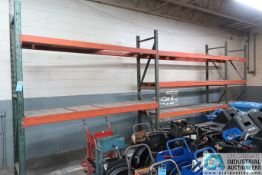 """(LOT) (2) SECTIONS 120"""" X 32"""" X 120"""" & (1) SECTION 48"""" X 32"""" X 120"""" ADJUSTABLE BEAM PALLET RACKS"""