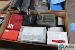 (LOT) MISC. GAUGES INCLUDING STANDS, PARALELLS, TELESCOPING GAUGES, PLUG GAUGES, DRILL GAUGES
