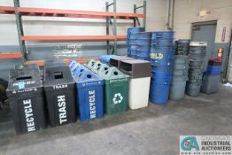 (LOT) RECYCLE AND TRASH CANS
