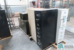 SKIDS FILE CABINETS, APPROX. (7) 2-4 DRAWER