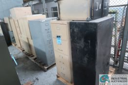 SKIDS FILE CABINETS, APPROX. (20) 2-4 DRAWER