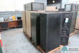 SKIDS FILE CABINETS, APPROX. (9) 4-DRAWER