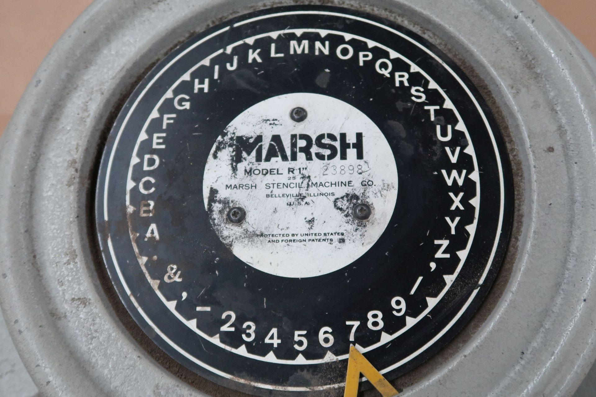 "MARSH MODEL R-1"" STENCIL MACHINE; S/N 23898 - Image 2 of 3"