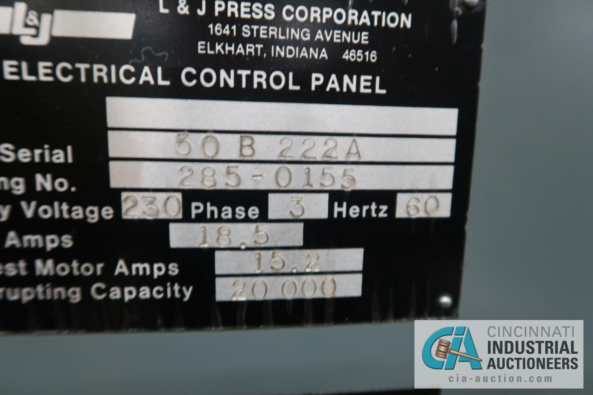 """60 TON L&J MODEL W-60 BACK GEARED OBI PRESS; S/N 50B222-A, 5"""" STROKE, 3"""" ADJUST, 12"""" SHUT HEIGHT - Image 12 of 13"""