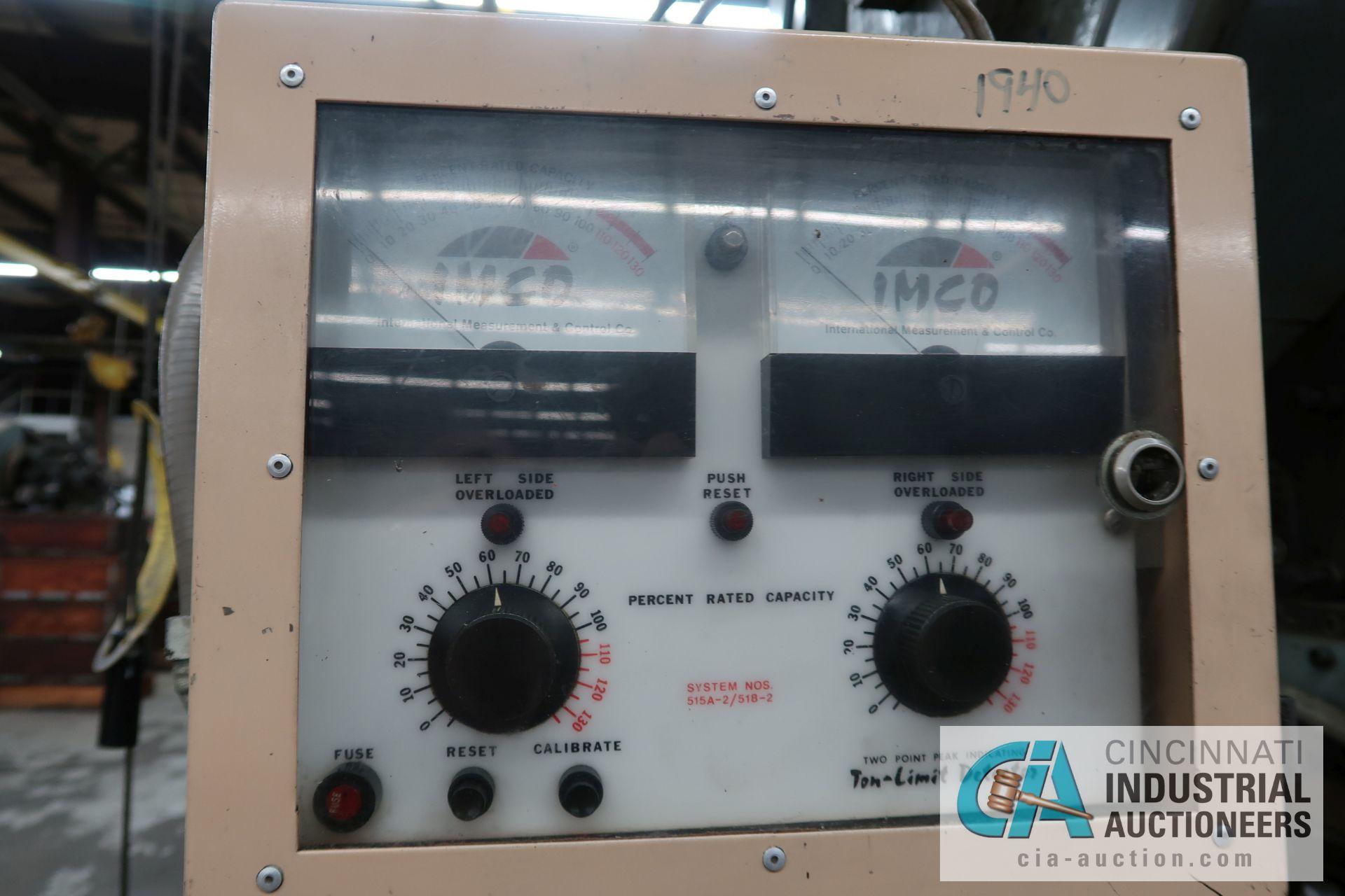 """60 TON L&J MODEL W-60 BACK GEARED OBI PRESS; S/N 50B222-A, 5"""" STROKE, 3"""" ADJUST, 12"""" SHUT HEIGHT - Image 3 of 13"""