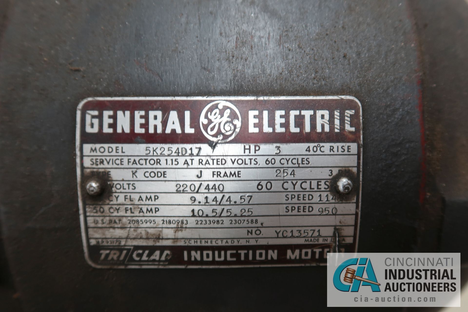 6' X 16 GAUGE MAX WYSONG SHEAR; S/N N/A, 3 HP ELECTRIC MOTOR, MANUAL CRANK BACKGAUGE - Image 8 of 8