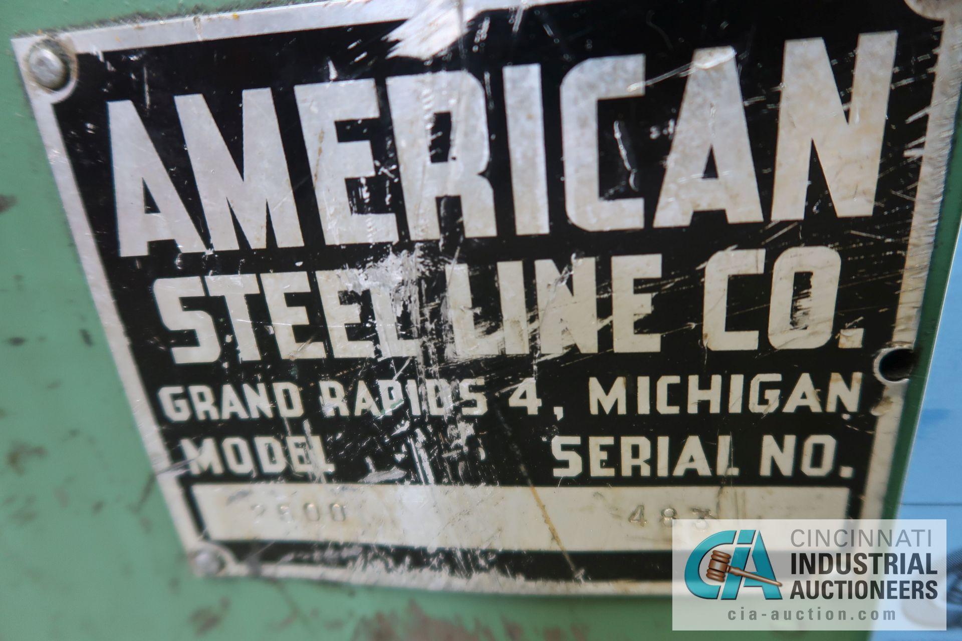 2,500 LB. CAPACITY AMERICAN STEEL LINE MODEL 2500 AUTO CENTERING REEL; S/N 483, MACHINE #107-3 - Image 3 of 3