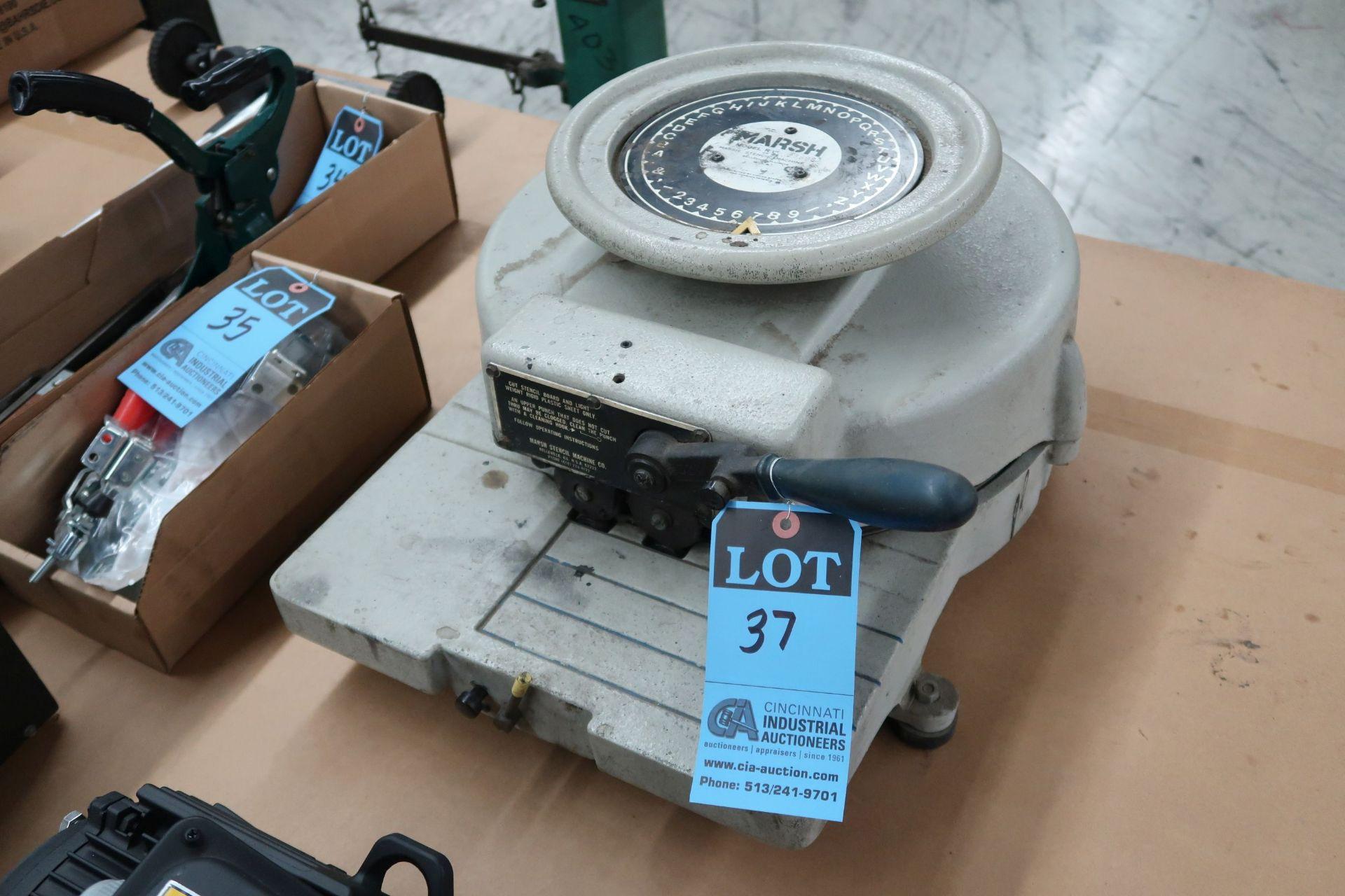 "MARSH MODEL R-1"" STENCIL MACHINE; S/N 23898"