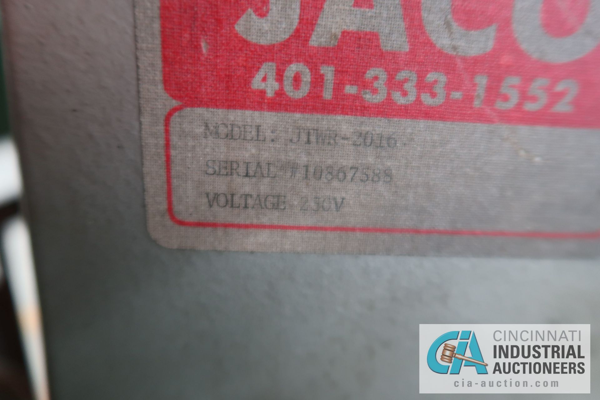 2,000 LB. CAPACITY JACO MODEL JTWR-2016 COIL REEL; S/N 10867588 - Image 5 of 5