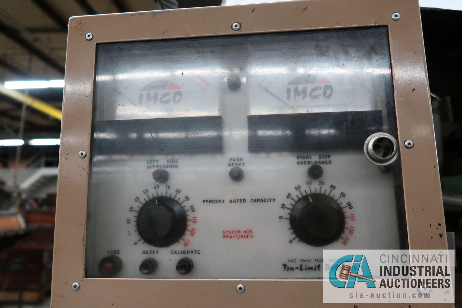 "100 TON CAPACITY L&J BACKED GEARED OBI PRESS; S/N 100242A, 5"" STROKE, 4"" ADJUST, 14-3/4"" SHUT HEIGHT - Image 8 of 13"
