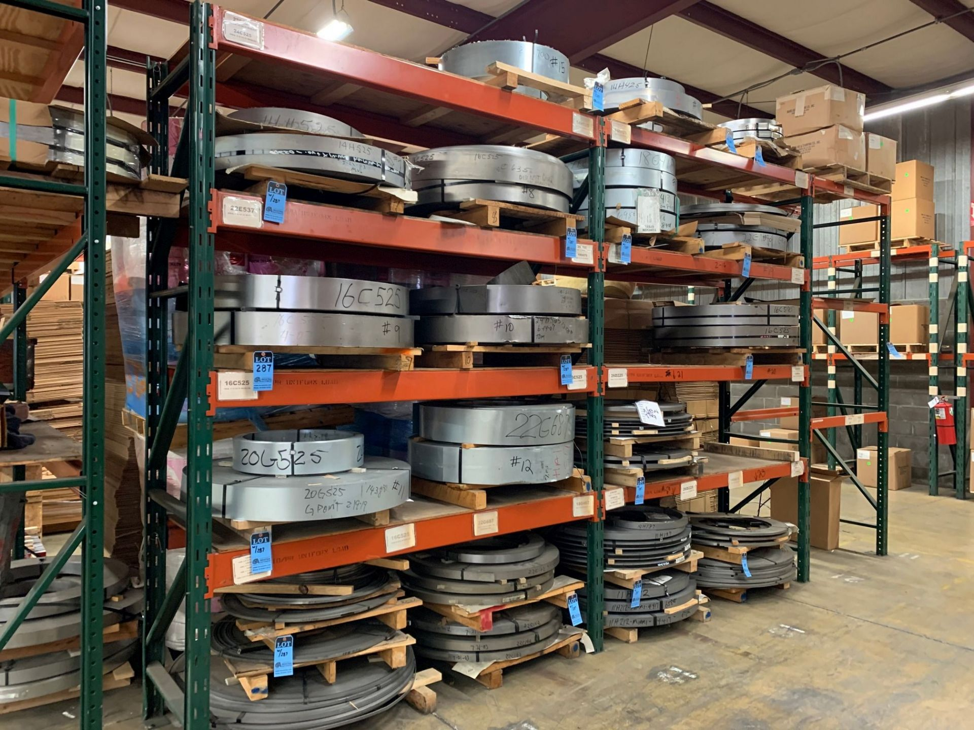 SKIDS OF MISCELLANEOUS STEEL COIL STOCK