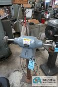 1-1/2 HP BALDOR MODLE 410B DOUBLE END STAND MOUNTED BUFFER