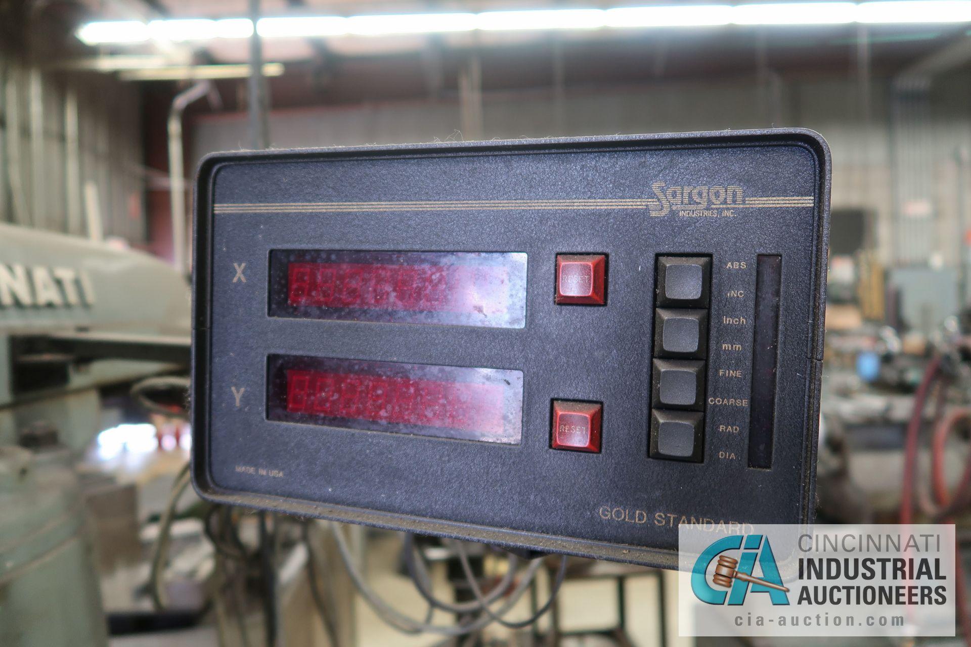 3/4 HP CINCINNATI MILLING TOOLMASTER VERTICAL MILLING MACHINE; S/N 6J1V5C-215, 108-3,825 RPM SPINDLE - Image 6 of 9
