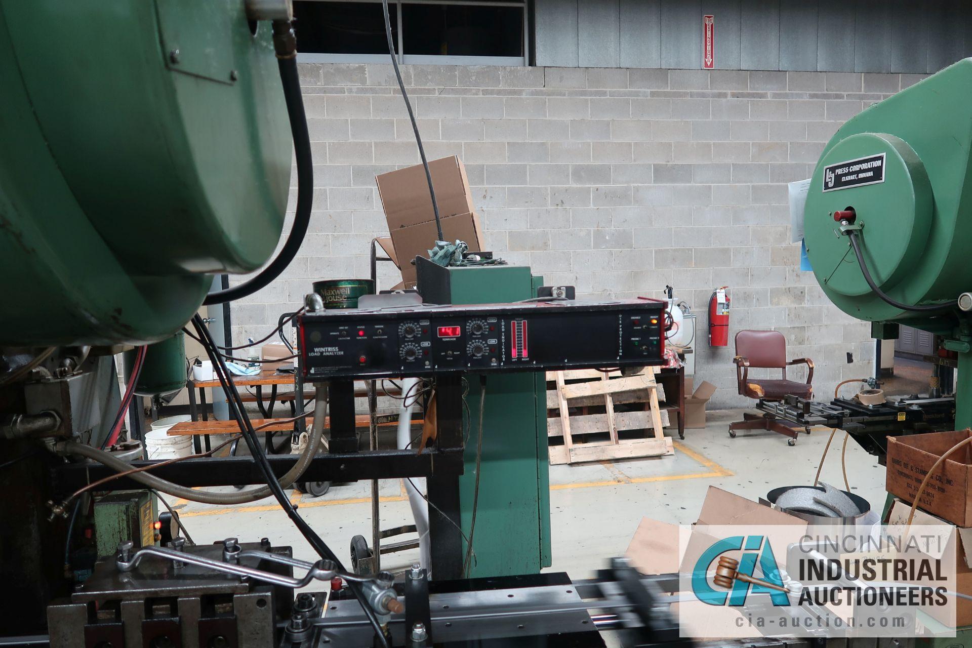 "60 TON L&J MODEL W-60 BACK GEARED OBI PRESS; S/N 56328, 4"" STROKE, 3"" ADJUST, 11-1/4"" SHUT HEIGHT ON - Image 5 of 8"