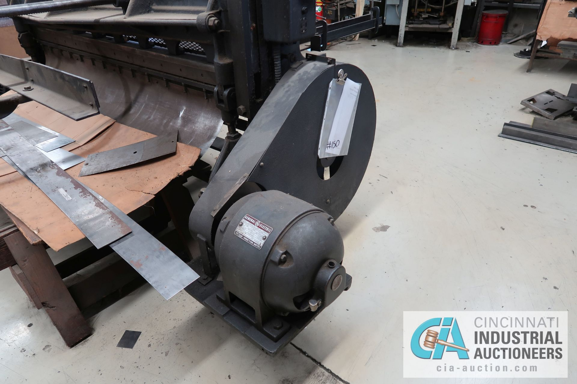 6' X 16 GAUGE MAX WYSONG SHEAR; S/N N/A, 3 HP ELECTRIC MOTOR, MANUAL CRANK BACKGAUGE - Image 4 of 8
