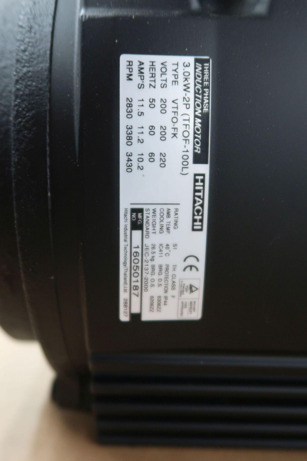 HITACHI TYPE VTFO-FK THREE-PHASE INDUCTION MOTOR; 2830 RPM (NEW) - Image 2 of 2