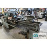 """18"""" X 54"""" CINCINNATI NO. 18 TRAY TOP TOOLROOM LATHE; S/N HT416D, WITH TAPER ATTACHMENT AND 12"""""""