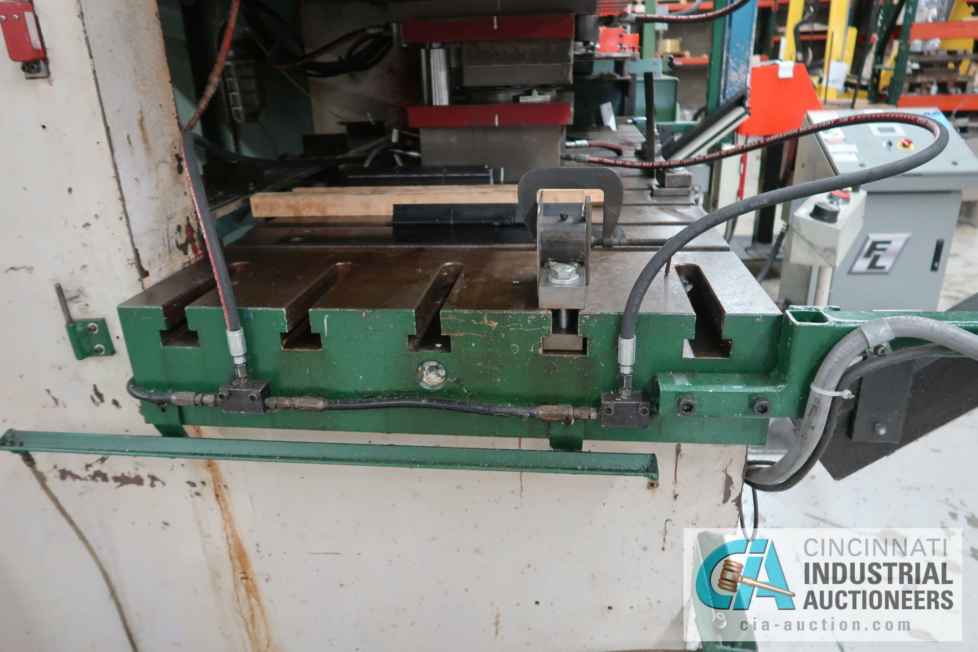 "175 TON SEYI SUTHERLAND MODEL 2-176-W GAP FRAME DOUBLE CRANK PRESS; S/N EW-D160-019, 30"" X 80"" T- - Image 5 of 11"