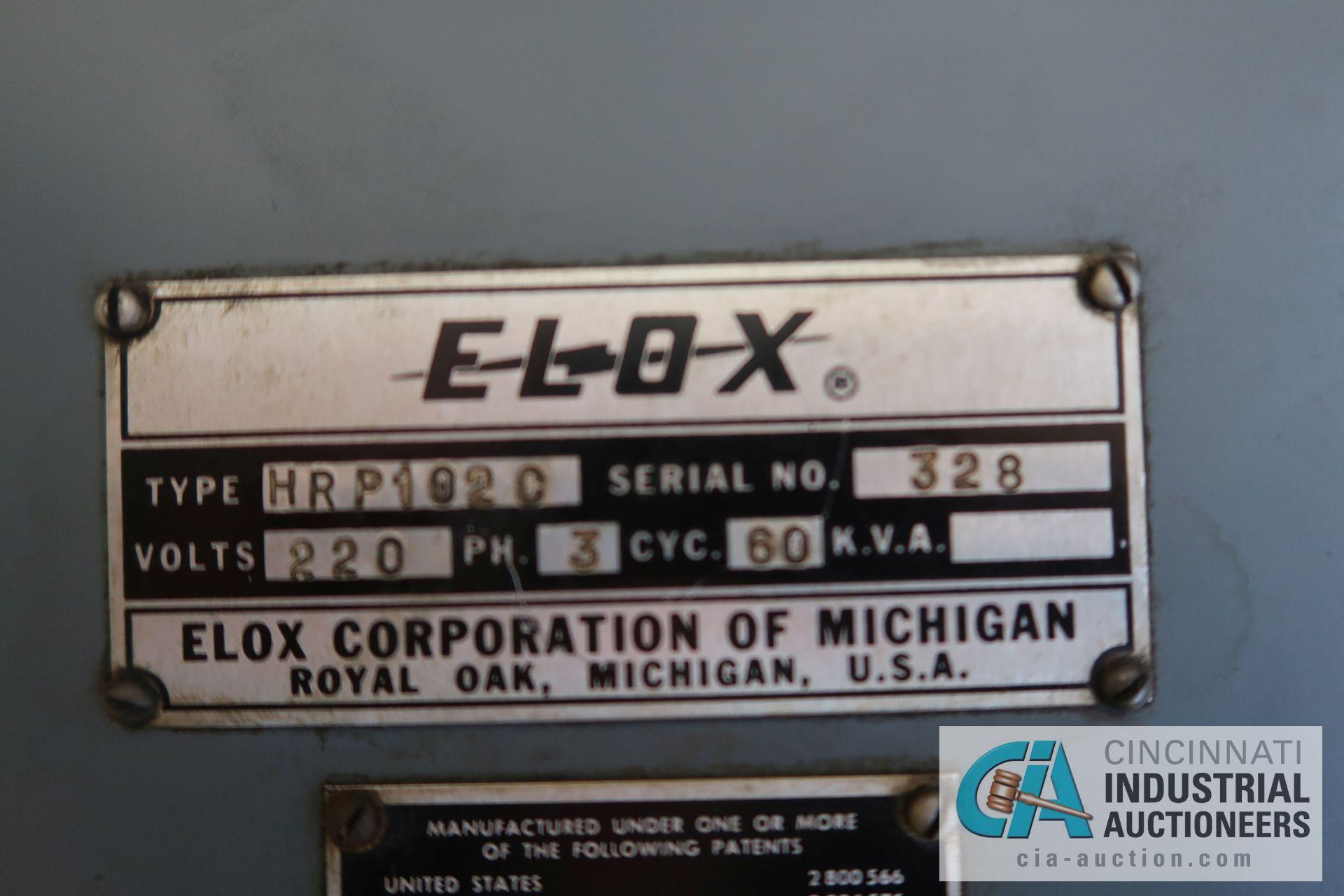 ELOX TYPE HRP1020 DIE SINKER TYPE EDM MACHINE; S/N 328 **OUT OF SERVICE** - Image 10 of 12