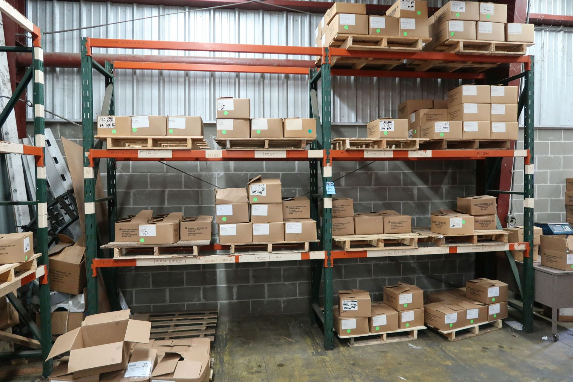 "SECTIONS 86"" X 30"" X 120"" ADJUSTABLE BEAM PALLET RACK **RACKING ONLY - DELAYED REMOVAL - PICKUP 10/"