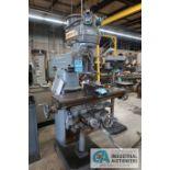 2 HP CINCINNATI MILLING TOOLMASTER VERTICAL MILLING MACHINE; S/N 6J4V5T-27