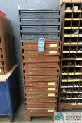 16-DRAWER HARDWARE CABINET WITH MISCELLANEOUS HARDWARE