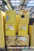 (5) FLAMMABLE CABINETS, (1) 15 GALLON AND (4) 4 GALLON
