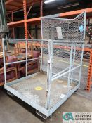 """48"""" X 48"""" COTTERMAN LIFT TRUCK TYPE SAFETY MAN CAGE"""