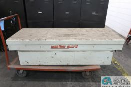 WEATHER GUARD PICKUP TYPE TOOLBOX WITH CART