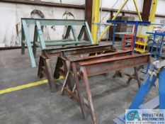 MISCELLANEOUS STEEL SAW HORSES