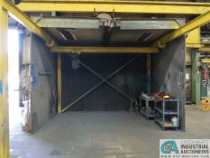 14' X 13' X 11-1/2' APPROX. DEVILBISS REAR EXHAUST BOLT TOGETHER PAINT ARRESTOR TYPE PAINT BOOTH