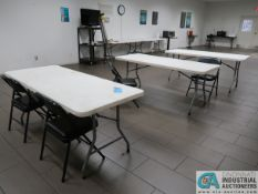 6' LIFETIME TYPE POLY FOLDING TABLES