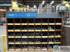 40-COMPARTMENT PIGEON HOLE HARDWARE CABINET WITH HARDWARE