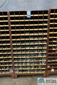 112-COMPARTMENT PIGEON HOLE HARDWARE CABINET WITH MISCELLANEOUS HARDWARE
