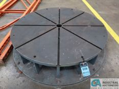 """60"""" DIAMETER T-SLOTTED TABLE"""