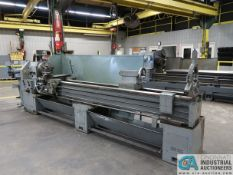 """20"""" X 120"""" VICTOR MODEL S2012D GAP BED ENGINE LATHE; S/N 714150, 13"""" 4-JAW CHUCK, TAIL STOCK, STEADY"""