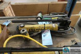 ENERPAC MANUAL HYDRAULIC PUMP WITH 10 TON JACK