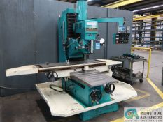 """7.5 HP CLAUSING MODEL SUP8BV BED MILL; S/N 151225, 16"""" X 62"""" TABLE, DRO, PB CONTROL, 65-5,160 RPM ("""