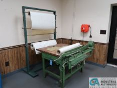 """36"""" MANUAL PAPER CUTTER WITH RACK"""