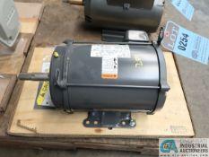 5 HP NIDEC MODEL FN39 ELECTRIC MOTOR, 3,520 RPM (NEW)