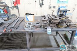 (LOT) MISCELLANEOUS C-CLAMPS, BAR CLAMPS, L-CLAMPS