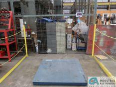 10,000 LB. ULINE PLATFORM SCALE WITH INCALE MODEL LP7510A, DRO