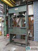 150 TON DAKE MODEL 5-150 H-FRAME HYDRAULIC PRESS; S/N 176900