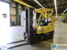 """5,000 LB. HYSTER S50FT SOLID TIRE LP GAS LIFT TRUCK; S/N G187V03303M, 3-STAGE MAST, 82"""" MAST HEIGHT,"""